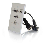 C2G 39707 socket-outlet HDMI + VGA + USB A + 3.5mm Aluminium