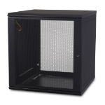 APC AR112 rack cabinet 12U Wall mounted rack Black