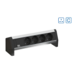 Bachmann Desk 1 power extension 2 AC outlet(s) Indoor Black, Silver