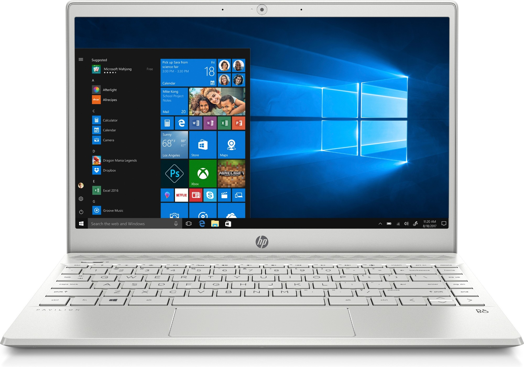 "HP Pavilion 13-an0006na Silver Notebook 33.8 cm (13.3"") 1920 x 1080 pixels 1.6 GHz 8th gen Intel® Core™ i5 i5-8265U"