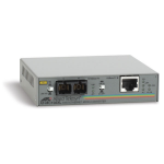 Allied Telesis 100TX to 100FX (SC) standalone media converter, UK power cord 100Mbit/s network media converter
