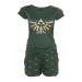 Nintendo Legend of Zelda Hyrule Royal Crest Shortama Nightwear Set, Extra Large, Green (SI180802ZEL-XL)
