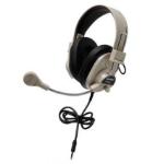 Ergoguys Califone 3066AVT Black,White Circumaural Head-band headphone