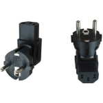 Microconnect PESC13ADA Type F (Schuko) C13 Black power plug adapter