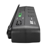 """APC SurgeArrest surge protector 8 AC outlet(s) 120 V 72"""" (1.83 m) Black"""
