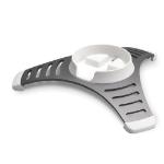 SoundXtra ES100 Floor Aluminium White speaker mount