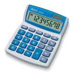 Ibico 208X Desktop Basic Blue, White calculator