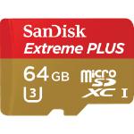 Sandisk Extreme Plus 64GB MicroSDXC UHS-I Class 10 memory card