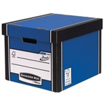 Bankers Box Bankers Box Premium Storage Box Tall FSC Blue and White [Pack 12] [12 for the price of 10] Ref 72606
