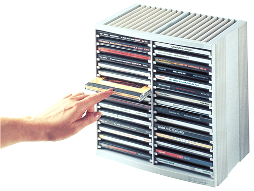 Fellowes 9823003 optical disc stand 48 discs Grey, Platinum