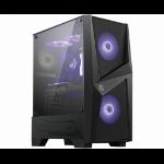 MSI MAG FORGE 100M Mid Tower Gaming Computer Case 'Black, 2x 120mm RGB PWM Fan, 1x 120mm Fan, 1-6 RGB Hub, Tempered Glass Panel, ATX, mATX, mini-ITX' 306-7G03M11-809