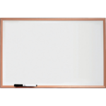 Nobo Basic Melamine Non Magnetic Whiteboard 600x400mm with Pine Trim