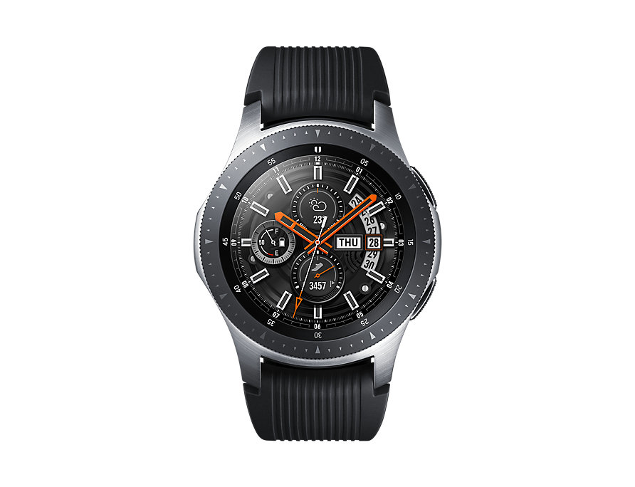 """Samsung Galaxy Watch - 46 mm - silver - smart watch with band - silicone - display 1.3"""" - 4 GB - Wi-"""