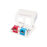 C2G Keystone Jack Surface Mount Box 2-Port Ivory Ivory network splitter