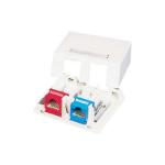 C2G Keystone Jack Surface Mount Box 2-Port Ivory Ivory network splitter