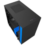 NZXT H200 Mini-Tower Black, Blue computer case