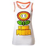 Nintendo Super Mario Bros. Women's Flower Power Tank Top, Small, White (TS250401NTN-S)