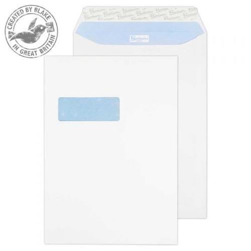 Blake Premium Office Pocket Window Peel and Seal Ultra White Wove C4 120gsm (Pack 250)