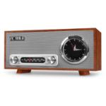 Victrola VC-150 radio Clock Analog Grey,Mahogany