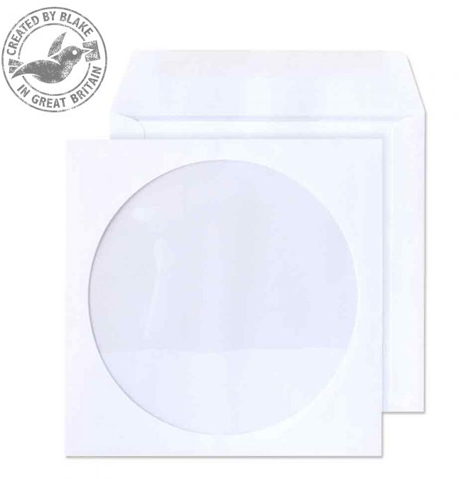 Blake Value Blake Envelopes CD/DVD Wallet 125x125mm White PK50
