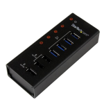 StarTech.com 4 Port USB 3.0 Hub plus 3 Dedicated USB Charging Ports (2 x 1A & 1 x 2A) - Wall Mountable Metal Enclosure
