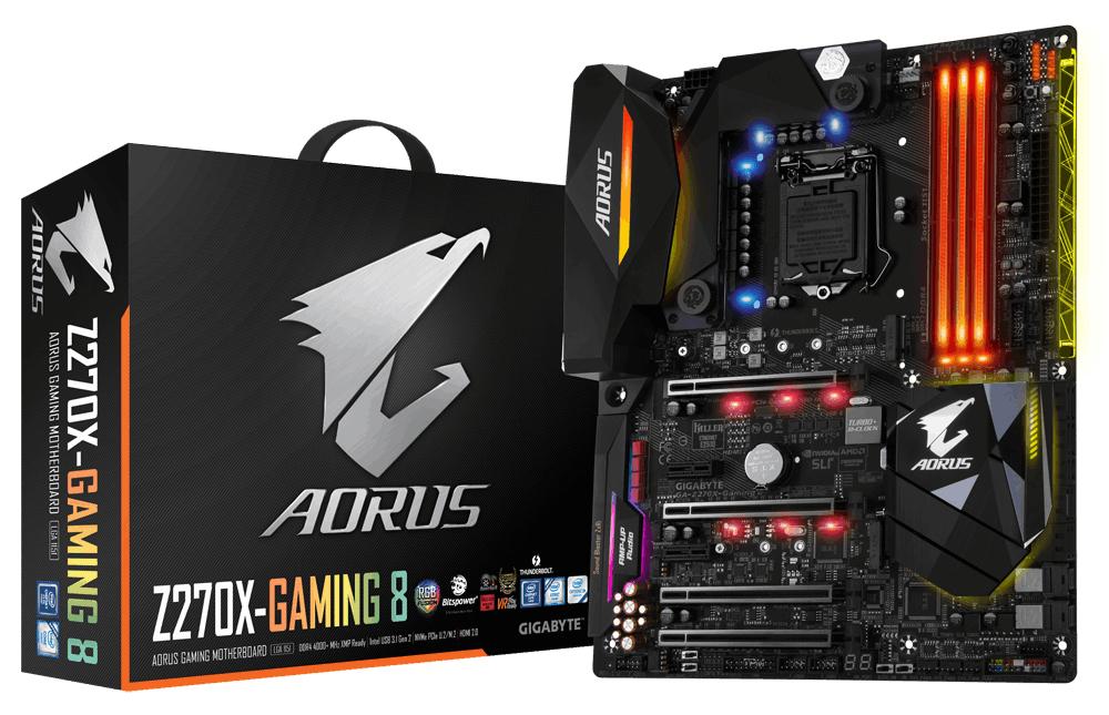 Gigabyte GA-Z270X-GAMING 8 Intel Z270 LGA1151 ATX motherboard