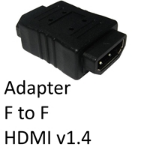Cables Direct HDMI 1.4 (F) to HDMI 1.4 (F) Black Gender Changer Adapter