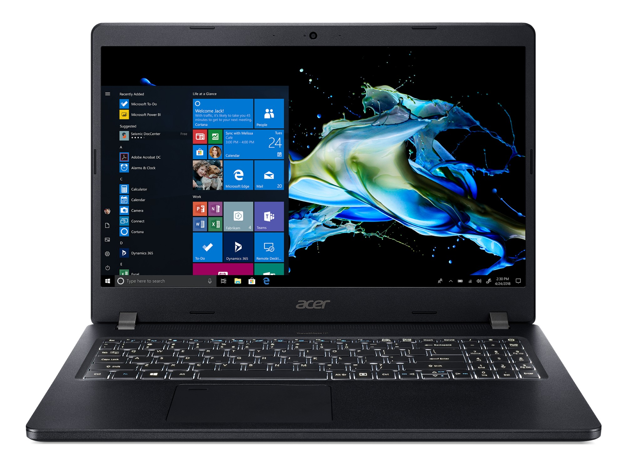 Acer TMP215-51-32G3 Black Notebook 39.6 cm (15.6