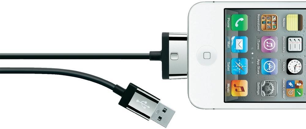 Belkin MIXIT ChargeSync, 2m 2m USB A Apple 30-p Black