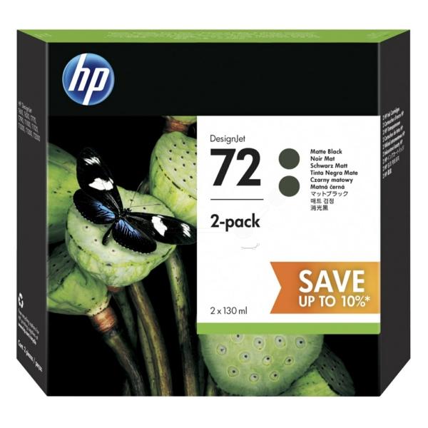 HP P2V33A (72) Ink cartridge bright black, 130ml, Pack qty 2