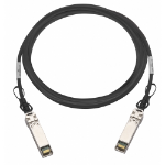 "QNAP CAB-DAC30M-SFPP-DEC02 InfiniBand cable 118.1"" (3 m) SFP+ Black,Metallic"