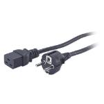 APC AP9875 power cable Black 2.5 m C19 coupler CEE7/7