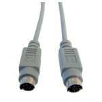 Cables Direct PS/2 PS/2 cable 10 m 6-p Mini-DIN Grey