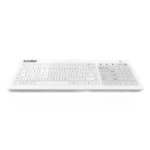 Accuratus KYB-ACCU-GLASSUK keyboard QWERTY UK English White