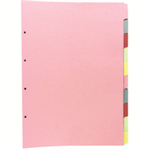 Concord Subject Dividers 160gsm Upright 10-Part A3 Ref 70299/J2