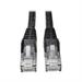Tripp Lite Cat6 Gigabit Snagless Molded Patch Cable (RJ45 M/M) - Black, 6-ft.