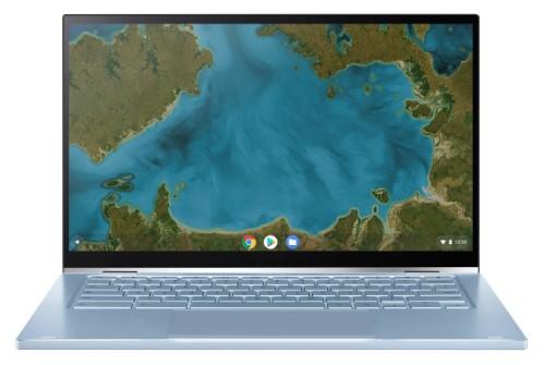 "ASUS Chromebook Flip C433TA-AJ0076 notebook Blue,Silver 35.6 cm (14"") 1920 x 1080 pixels Touchscreen Intel® Core™ M 8 GB LPDDR3-SDRAM 32 GB eMMC Wi-Fi 5 (802.11ac) Chrome OS"