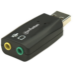 Manhattan USB 2.0 Sound Adapter, USB-A to 3.5mm Mic-in and Audio-Out ports, supports 3D and virtual 5.1 surround sound