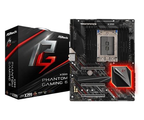 Asrock X399 Phantom Gaming 6 motherboard Socket TR4 ATX AMD X399