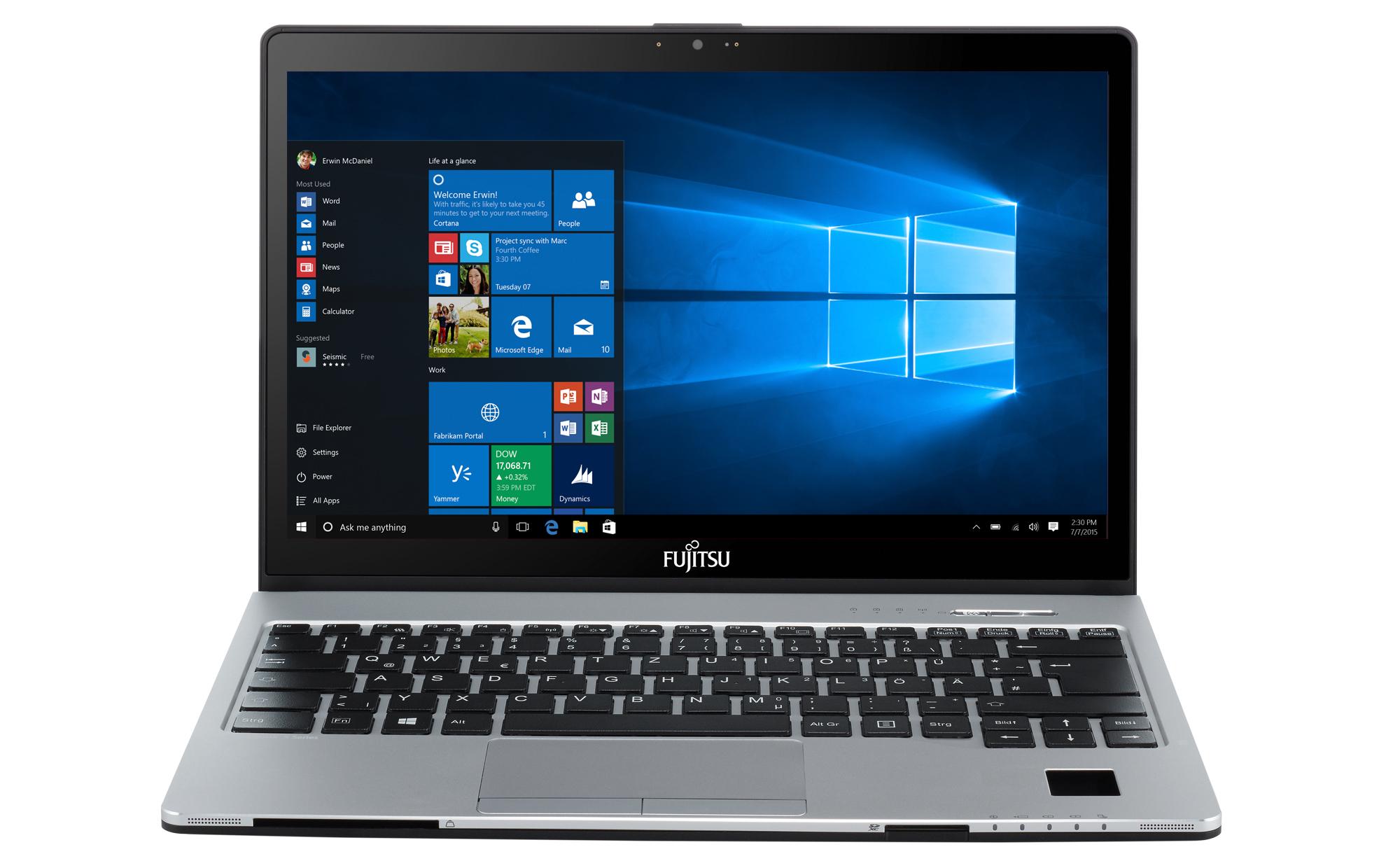 "Fujitsu LIFEBOOK S936 2.6GHz i7-6600U 13.3"" 2560 x 1440pixels Touchscreen Black,Silver"