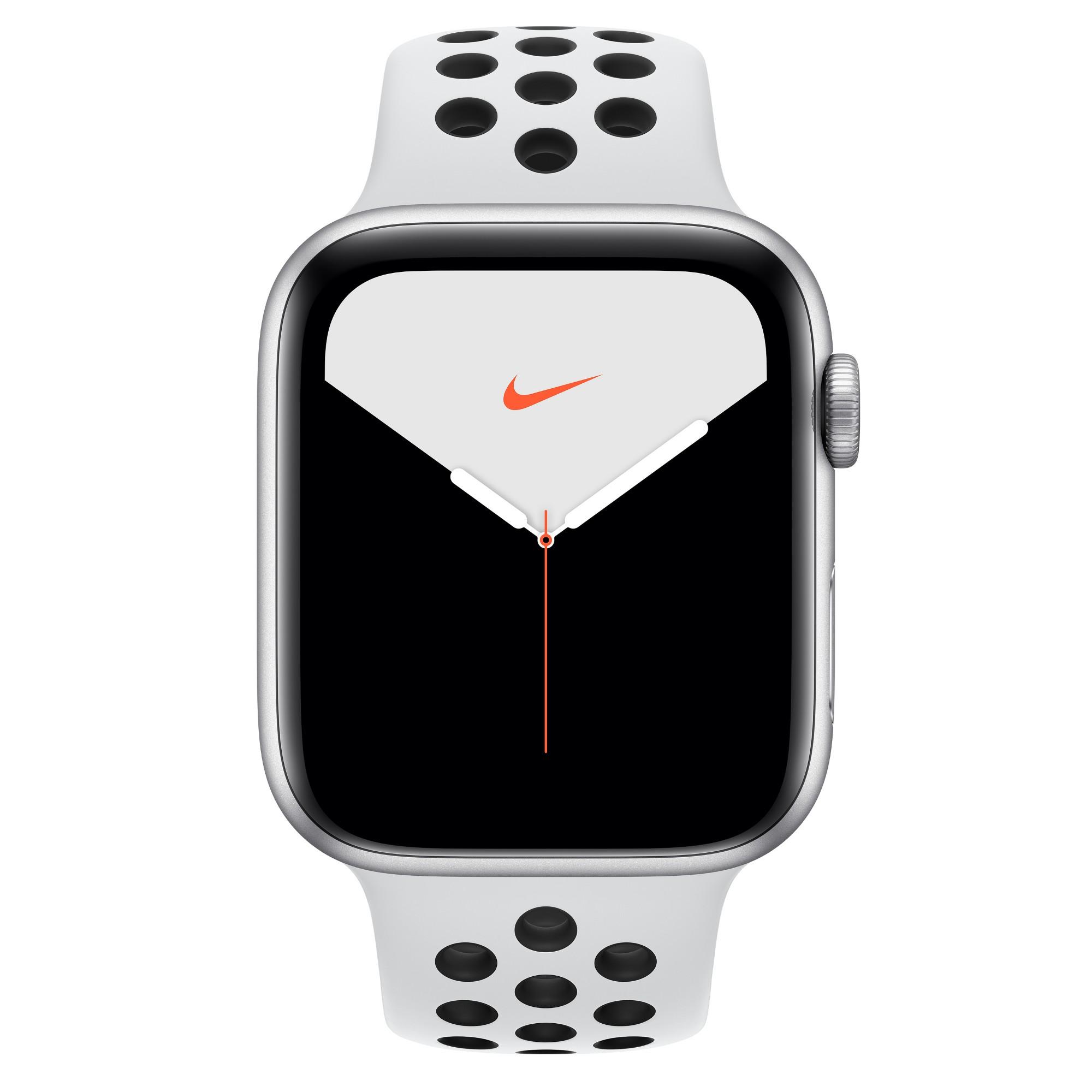 Apple Watch Nike Series 5 smartwatch Silver OLED Cellular GPS satellite