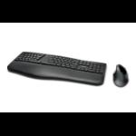 Kensington ProFit Ergo keyboard RF Wireless + Bluetooth QWERTY French Black