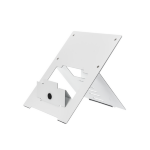 R-Go Tools Riser Flexible Laptop Stand, adjustable, white
