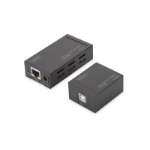 Digitus DA-70142 network extender Black