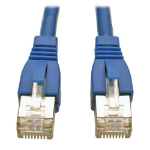 Tripp Lite Augmented Cat6 (Cat6a) Shielded (STP) Snagless 10G Certified Patch Cable, (RJ45 M/M) - Blue 0.31 m (1-ft.)