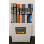 OZCORP WRAPPING PAPER OZCORP 76CMX3M COLOURED ASSORTED