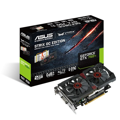 ASUS STRIX-GTX750TI-OC-2GD5 NVIDIA GeForce GTX 750 Ti 2GB graphics card