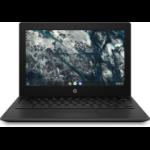 "HP Chromebook 11MK G9 29.5 cm (11.6"") Touchscreen HD MediaTek 4 GB LPDDR4x-SDRAM 32 GB eMMC Wi-Fi 5 (802.11ac) Chrome OS Black"