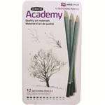Derwent Academy Sketching Pencils 6B - 5H Ref 2301946 [Pack 12]