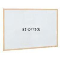 Bi-Office Drywipe Whiteboard Wood Frame 900mm X 600mm